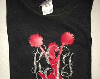 Monogrammed Cheer Shirt