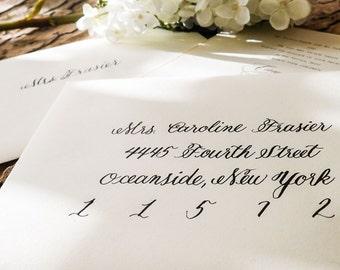 Wedding Calligraphy Envelope Hand Addressing - Kristen Style
