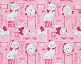 ARISTACATS PINK  fabric fat quarter 100% cotton