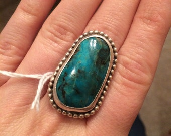 Beautiful vintage turquoise ring extra large
