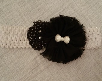Black and White Baby/Toddler Headband