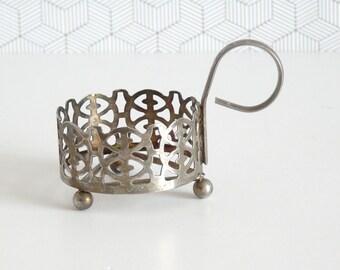 Vintage metal Jeaner glass holder | podstakannik