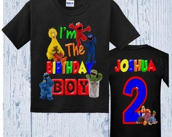 Sesame Street Birthday Shirt - Sesame Street Shirt - Many Styles Available
