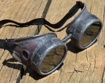Steampunk Goggles, Steampunk, Goggles, Burningman, Burning Man, Aviator Goggles, Motorcycle Goggles, Apocalypse, Wasteland, Mad Max, Fallout
