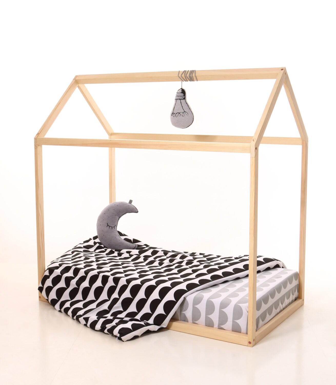 double taille enfants cr che lit maison en bois maison de lit. Black Bedroom Furniture Sets. Home Design Ideas