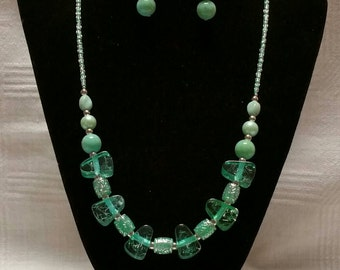 Teal Necklace Set