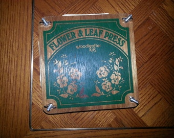 Woodkrafter Kits Flower & Leaf Press