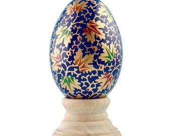 Hosta Wooden Hand Painted Easter Egg- SKU # wp-94
