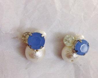 Handmade Earrings -cotton pearl-
