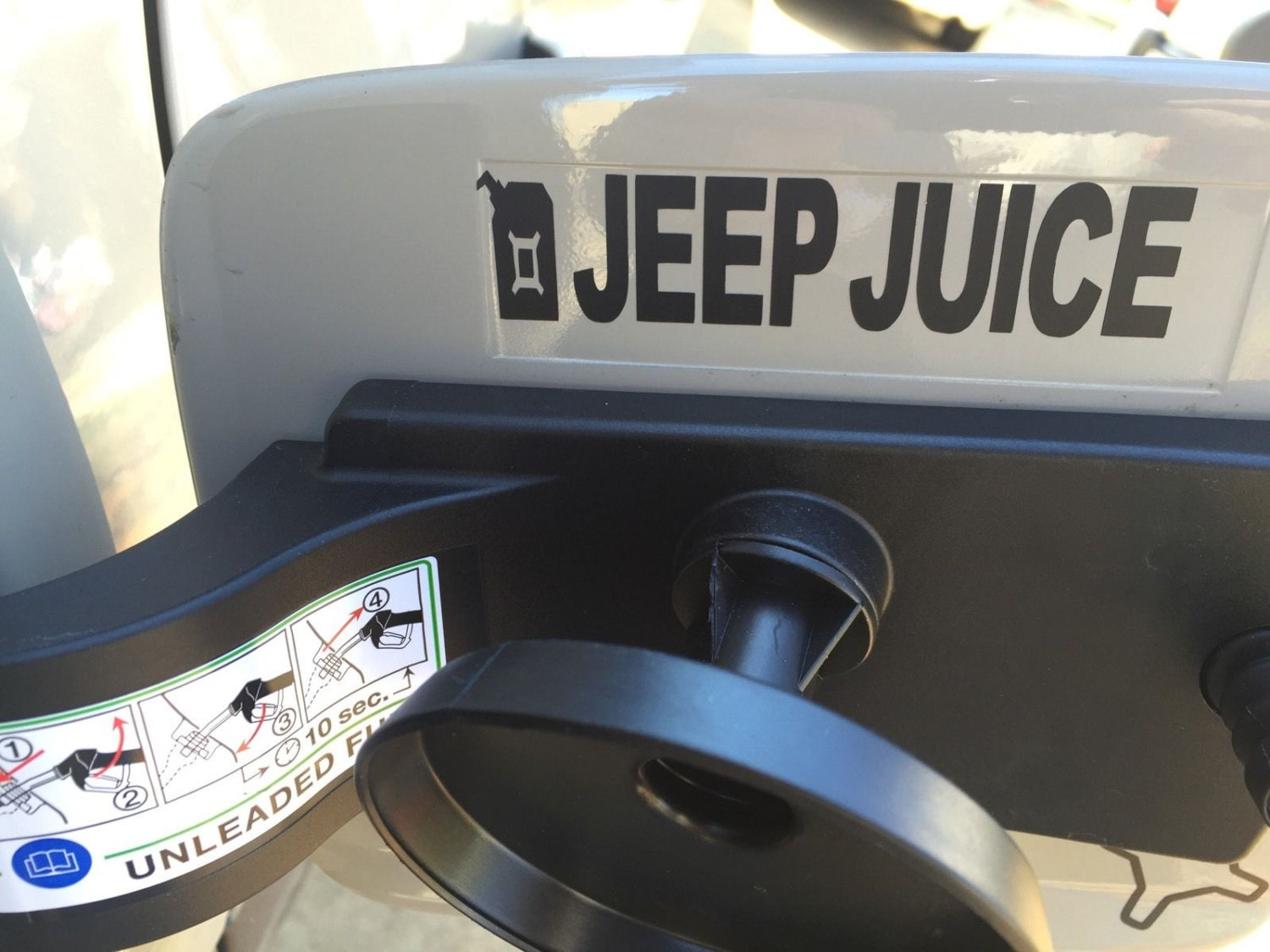 jeep renegade jeep juice x gas can decal sticker. Black Bedroom Furniture Sets. Home Design Ideas
