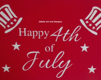 List 1 - 4th of July - Independence Day stencils *Free gift with every order*