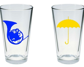 How I Met Your Mother Inspired Pint Glass Set of 2