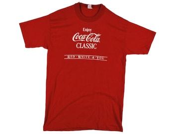 80's Vintage ENJOY COCA COLA Men's T Shirt Small