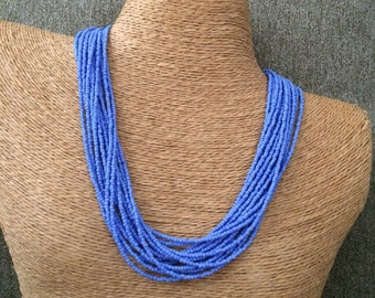 Periwinkle necklace, periwinkle bridesmaids, blue necklace, blue bridesmaids, periwinkle bridal, lavender necklace, lavender bridesmaids
