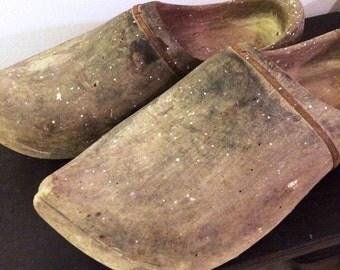 Antique Wood Clogs
