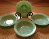 """RESERVED for BRITTANY - Fire King Jadeite Restaurant Ware 4 Flanged Cereal/Soup/Salad Bowls 6 1/4"""""""