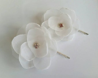 Ivory hair flowers bridal bridesmaid hair accessories wedding hair flower flower hair pins flower hair accessory