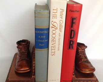 Vintage Books, Book Stack, Vintage Book Stack, 1938 to 1994, FDR, Presidency Books, Set of 3,  Instant Library, Old Books, Book Collection