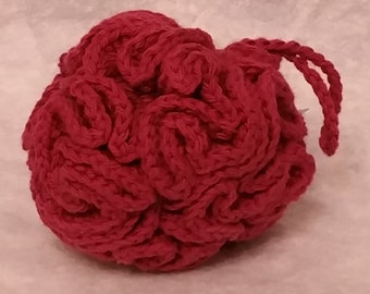 Crocheted Cotton Loofah - Rose