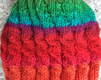 rainbow knit cap