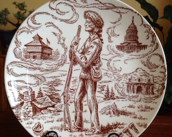 Vintage Davy Crockett Royal China Dinner Plate 9 1/2""