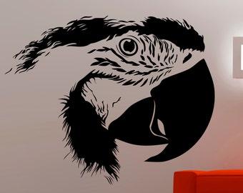 Parrot Wall Sticker Bird Decal Animal Decor Home Living Room Bedroom Vinyl Wall Art Removable Waterproof Sticker 7epai