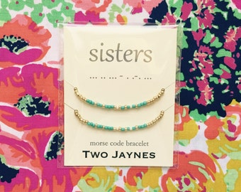 Sisters - Best Friends - Mother Daughter - MORSE CODE Bracelets