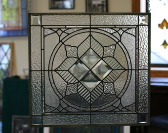 Beveled Art Deco Flower Panel