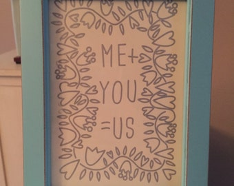 Me plus you equals us picture