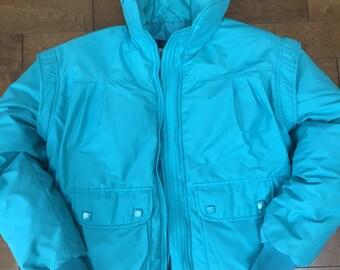 Down Filled Vintage Ski Jacket  Puffer coat