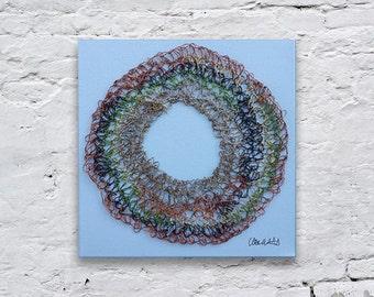 Wire Art Picture, Wire Crochet, Crochet Art