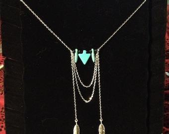 Teal Arrow Necklace #95