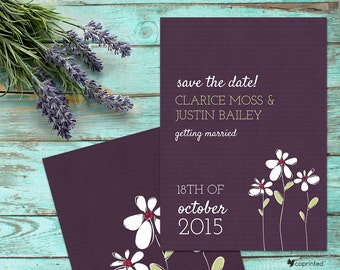 Fresh Blossom Save The Date - garden and floral, nature, flower, petals, spring, summer, fresh, young, natural, joyful, delicate