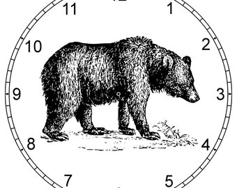 Carved Bear Clock