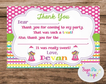 Sweet Treat's Thank You Card