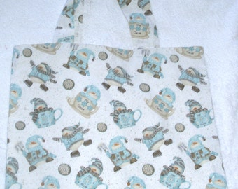 Chilly Snow People cloth shopping bag
