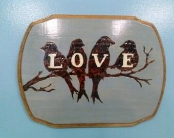 Love Bird Plaque