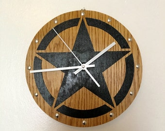 "10% off Silent Wall Clock ""STAR"""