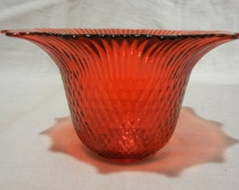Beautiful glass molded red vase.