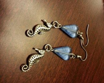 Sea Horse Earrings Beads