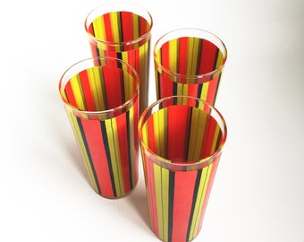 Colorful Glass Tumblers, set of 4