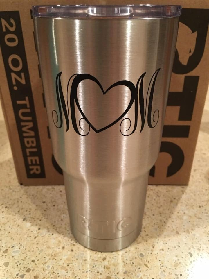 20oz Rtic Tumbler W Vinyl Sticker Mom