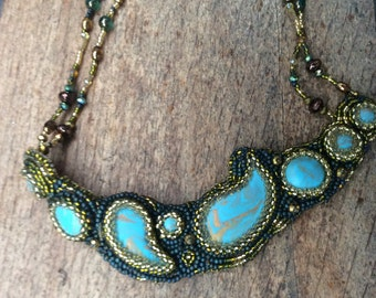 Beaded Turquoise Necklace