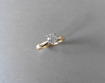 Diamond solitaire ring 0.72ct