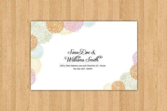 word 2013 envelope template - printable wedding envelope template diy editable ms word