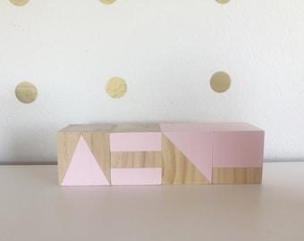 Large wooden decor blocks