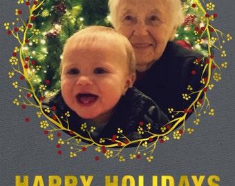 Holiday Photo Card- Happy Holidays
