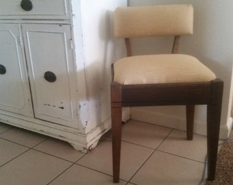Vintage chair. Mid Century sewing chair. Wood chair.