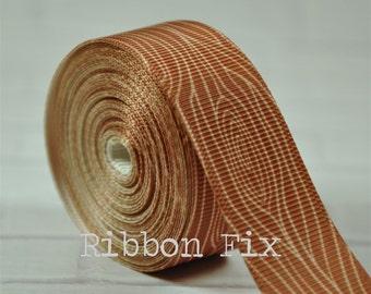 "2 yards 7/8"" Wood Grain Print Grosgrain Ribbon - Barnwood - Woodgrain - Rustic - Craft - Wedding - Baby Shower - Home Dec - Dog Collar/Leash"