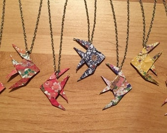 Origami Angelfish Necklace